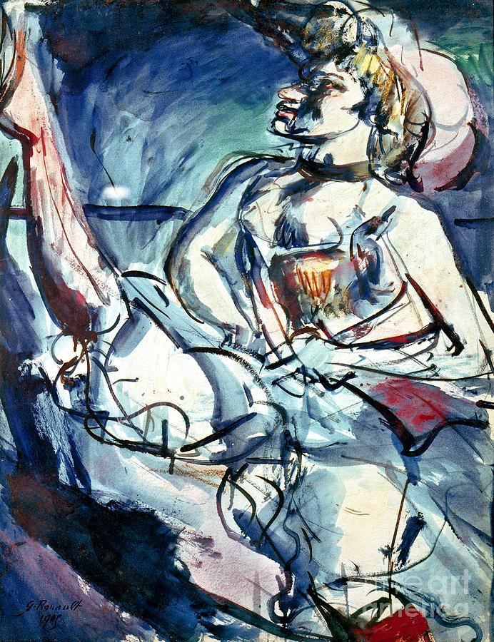 Tabarin, 1905 by Georges Rouault