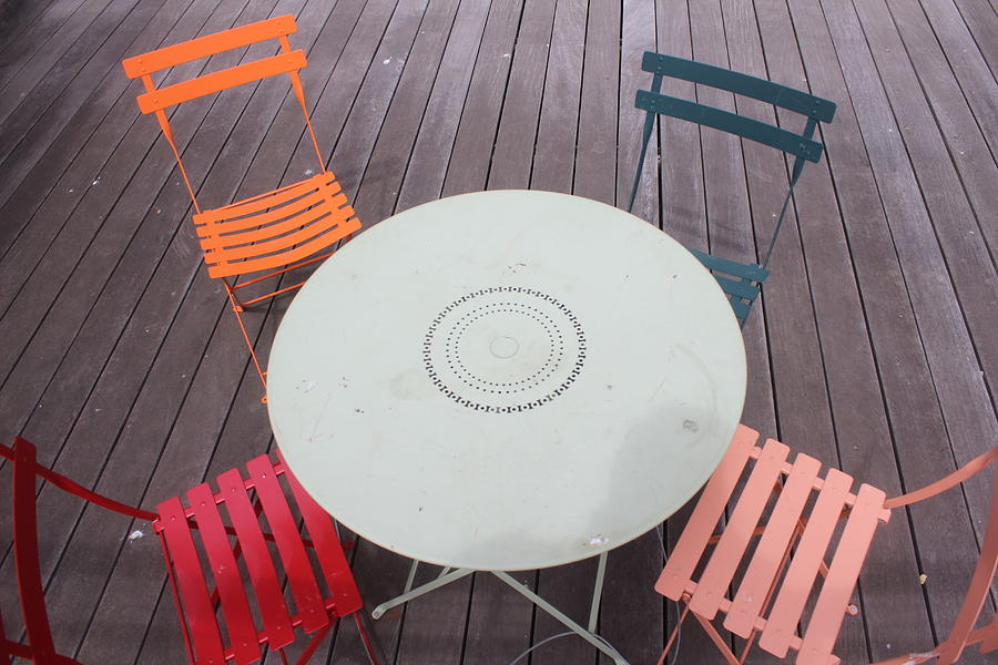 Table Photograph - Table And Chairs by Callen Harty