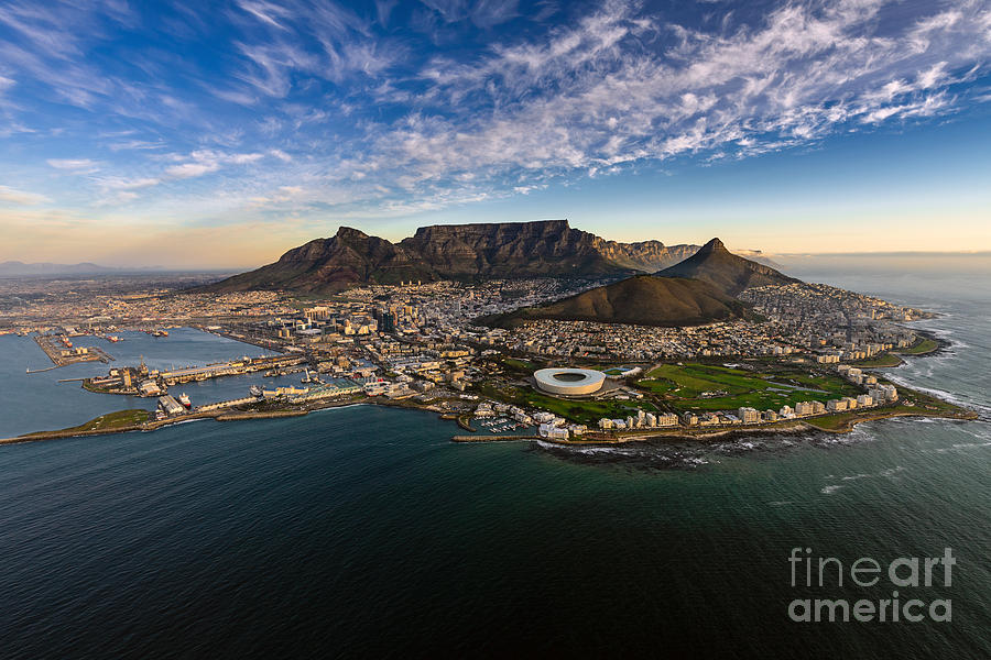 City Photograph - Table Mountain Sunset by Alexcpt photography