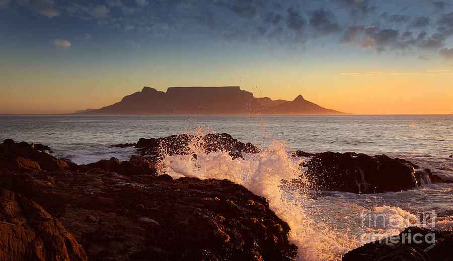 Africa Photograph - Table Mountain With Clouds, Cape Town by Dietmar Temps