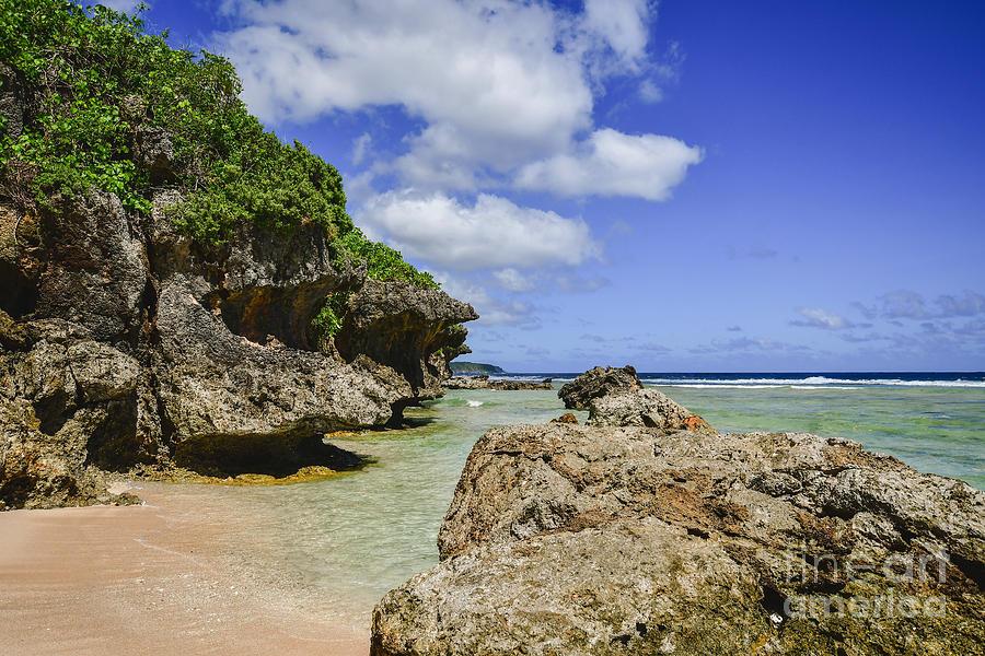 Tagachang Beach Guam by Steven Liveoak