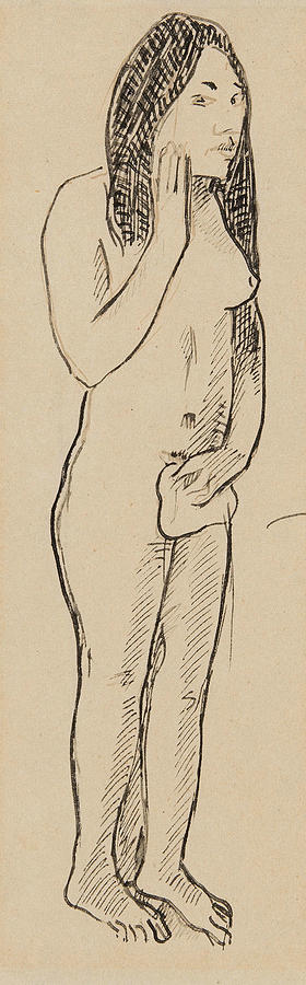 French Painters Drawing - Tahitian Eve by Paul Gauguin
