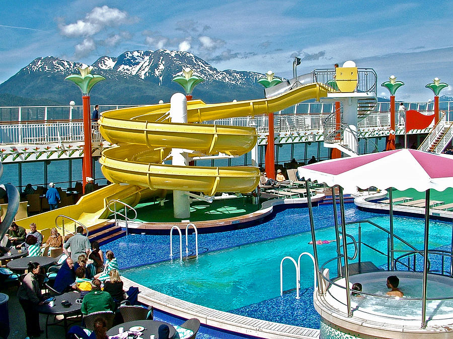 Tahitian Pool On Norwegian Pearl On Inside Passage Cruise Alaska Photograph By Ruth Hager