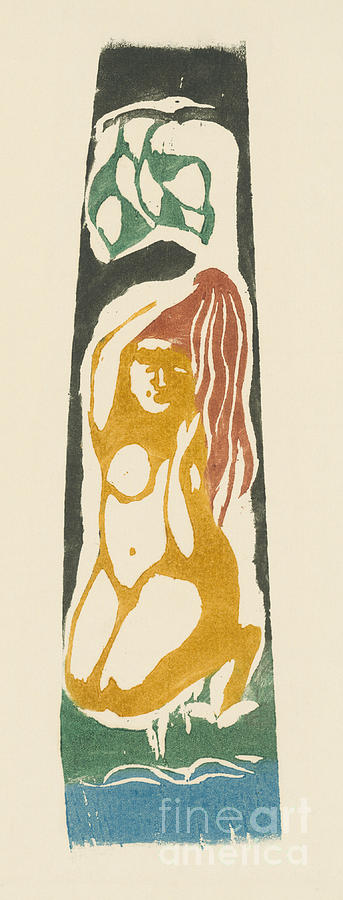Gauguin Painting - Tahitian Woman by Paul Gauguin
