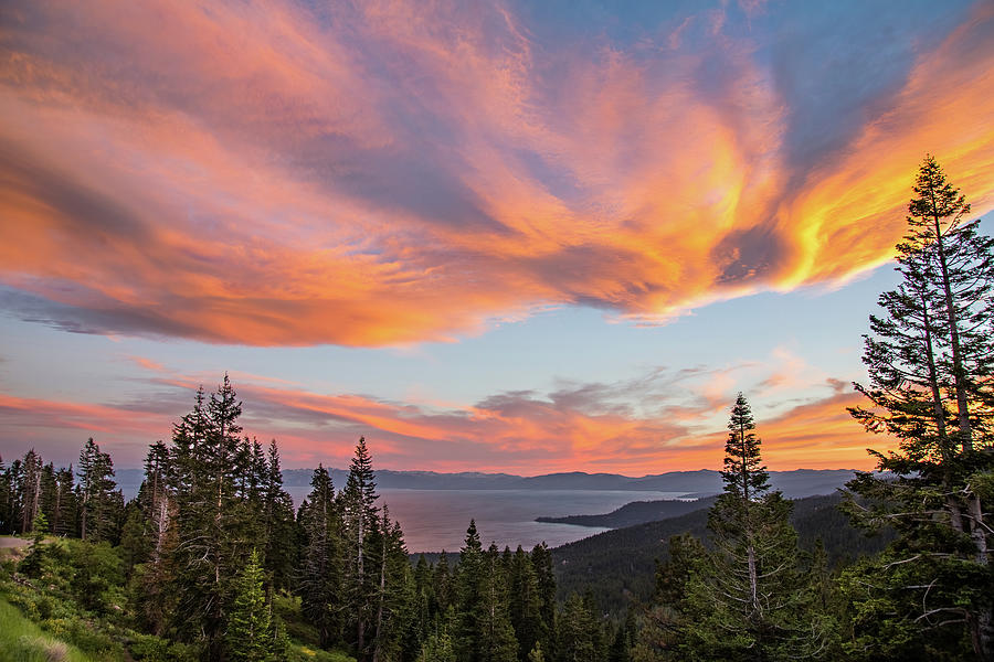 Tahoe Sunset 2 Photograph by Fred DeSousa