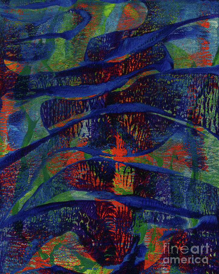 Abstract Painting - Tail On A Mountainside by Laura L Leatherwood
