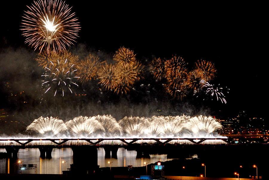 Taipei Firework Photograph by Hank Sun (hanksun88)
