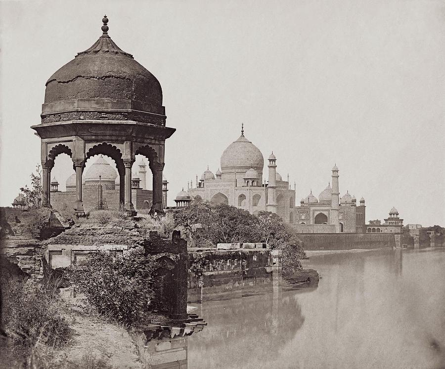 Taj Mahal Photograph by Felice Beato