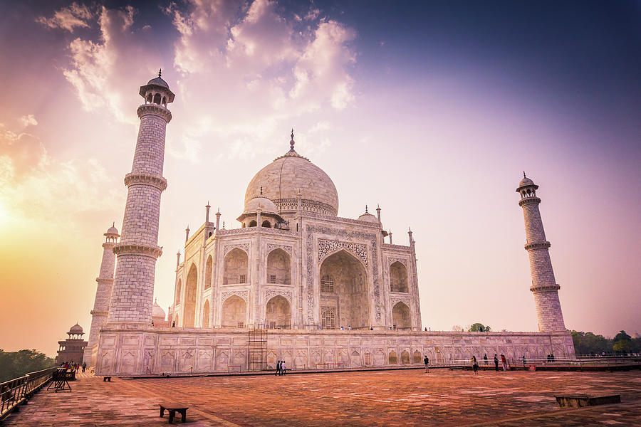 Taj Mahal Side View by Gary Gillette