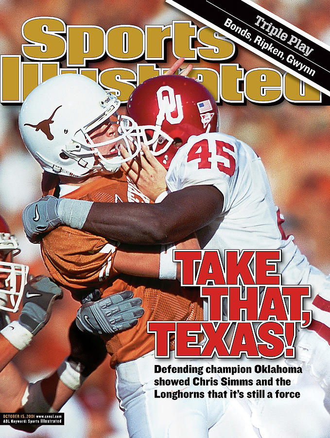 Take That Texas Defending Champion Oklahoma Showed Chris Sports Illustrated Cover Photograph by Sports Illustrated