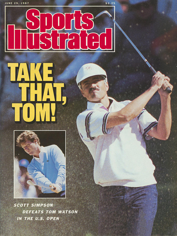 Take That, Tom Scott Simpson Defeats Tom Watson In The Us Sports Illustrated Cover Photograph by Sports Illustrated