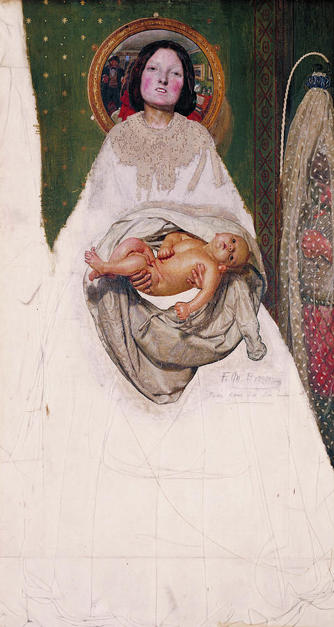 Ford Madox Brown Painting - Take Your Son, Sir, 1851 by Ford Madox Brown