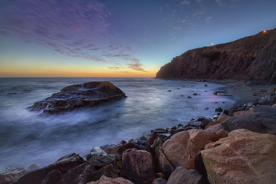 Tall Cliffs of Dana Point After Sunset by Andy Konieczny