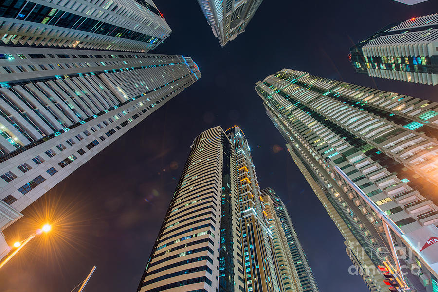 City Photograph - Tall Residential Buildings In Dubai by Elnur