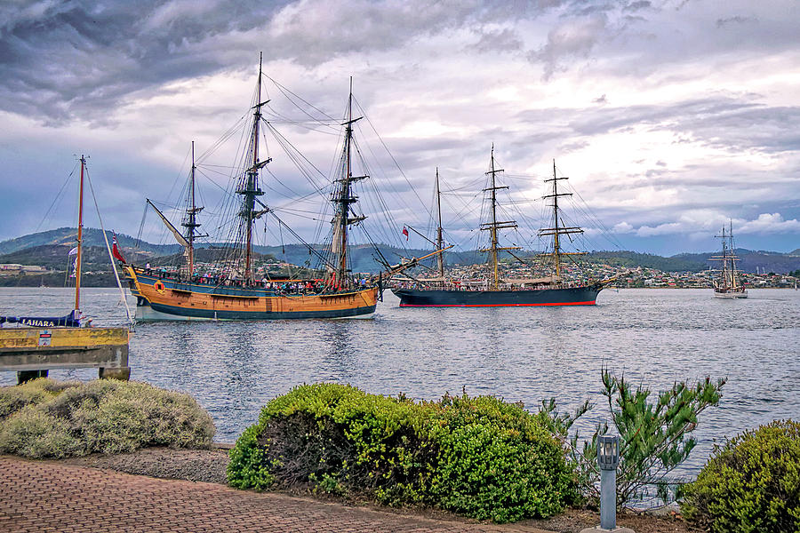 Tall Ships in the Derwent - Hobart Tasmania by Tony Crehan