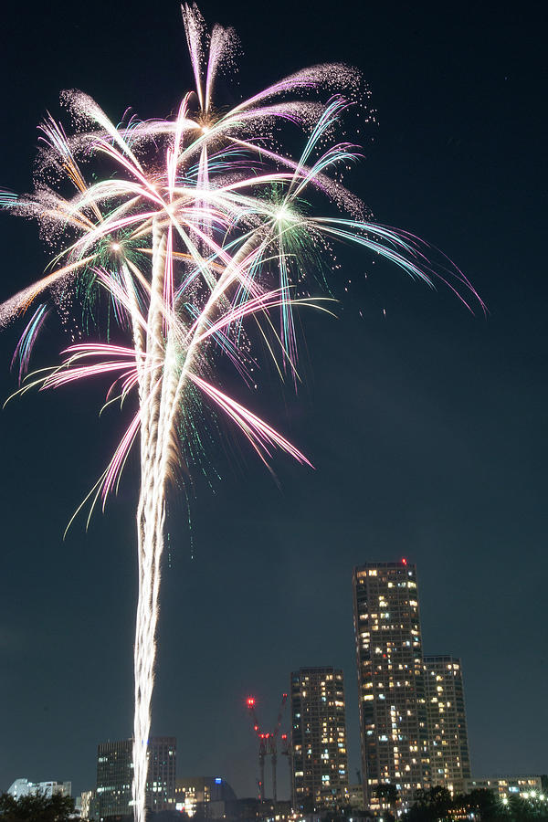 Tamagawa Fireworks Festival Photograph by Nanba Toshiaki