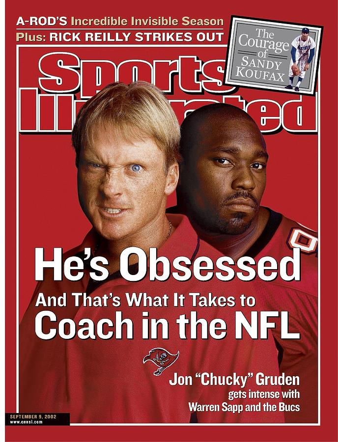 Tampa Bay Buccaneers Coach Jon Gruden And Warren Sapp Sports Illustrated Cover Photograph by Sports Illustrated