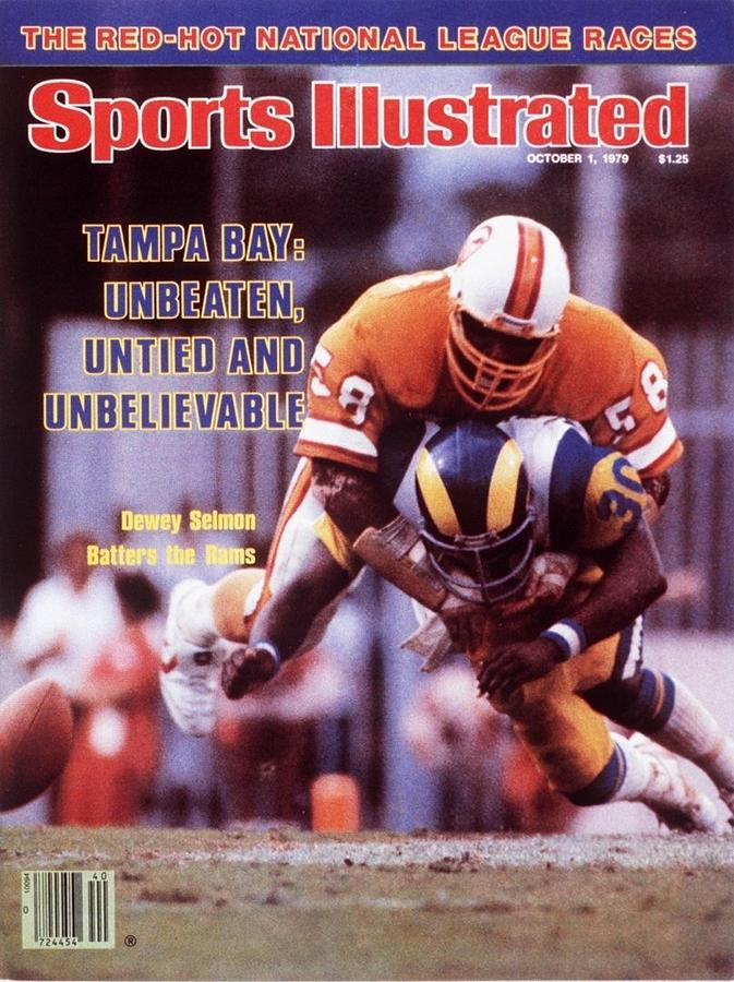 Tampa Bay Buccaneers Dewey Selmon... Sports Illustrated Cover Photograph by Sports Illustrated