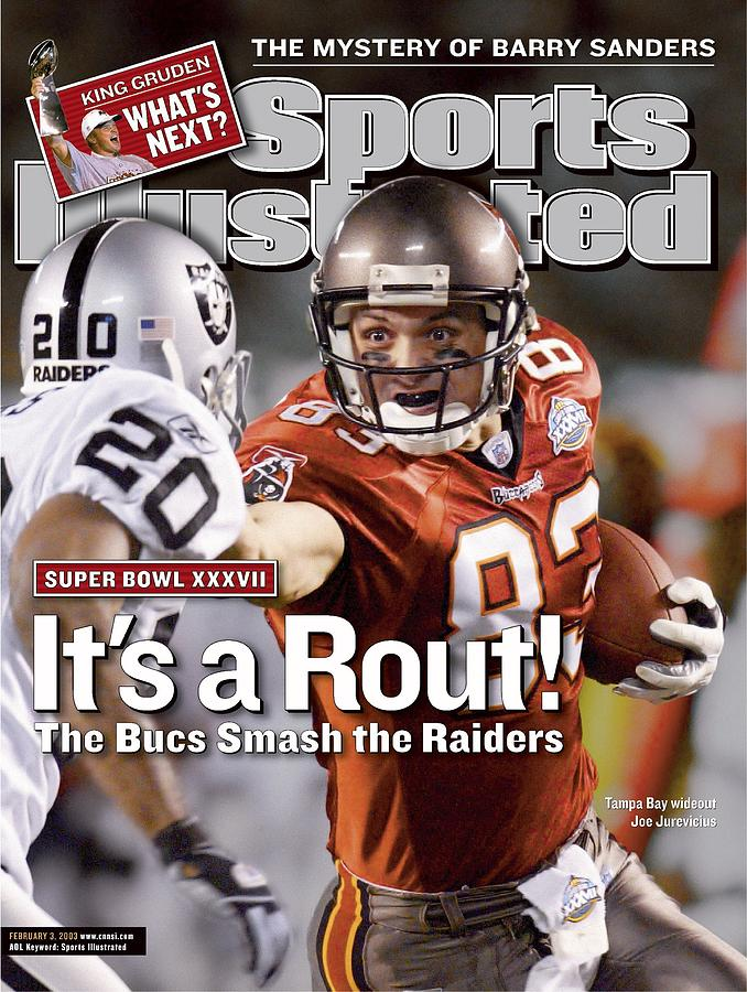 Tampa Bay Buccaneers Joe Jurevicius, Super Bowl Xxxvii Sports Illustrated Cover Photograph by Sports Illustrated