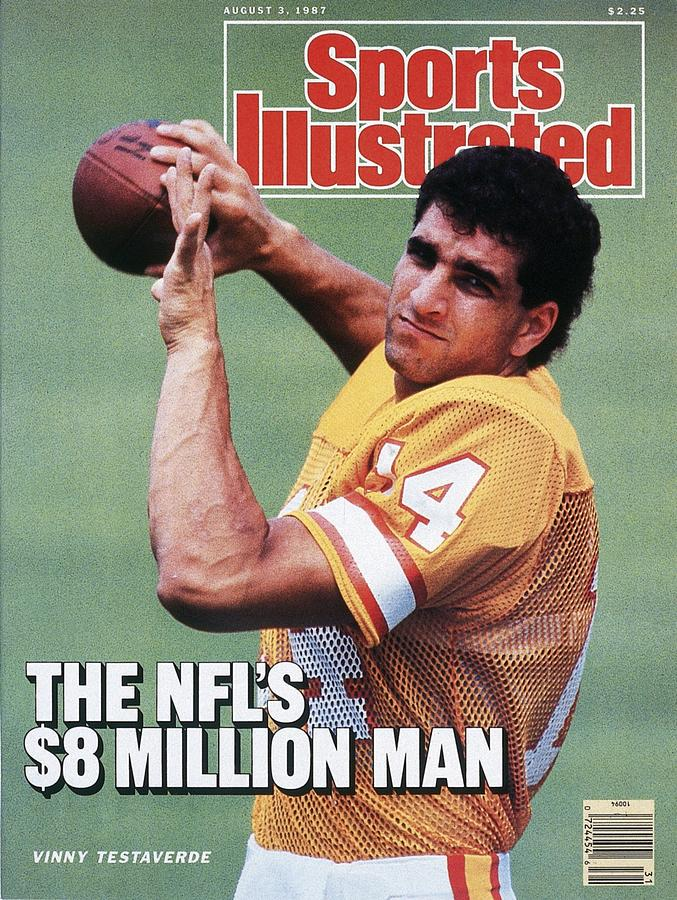 Tampa Bay Buccaneers Qb Vinny Testaverde Sports Illustrated Cover Photograph by Sports Illustrated