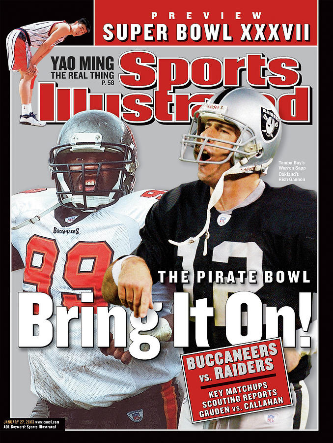 Tampa Bay Buccaneers Vs Oakland Raiders, Super Bowl Xxxvii Sports Illustrated Cover Photograph by Sports Illustrated