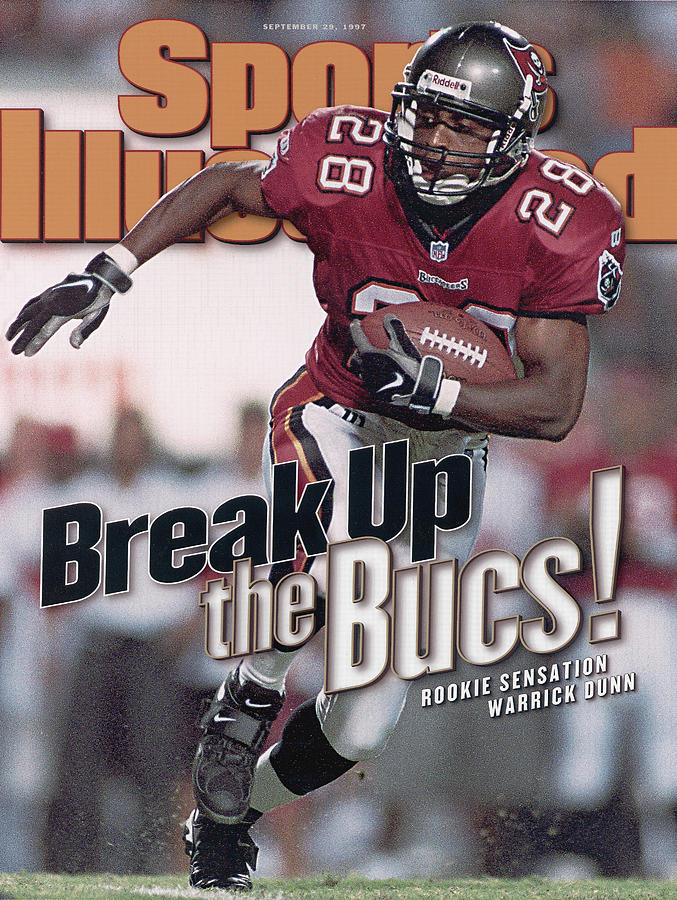 Tampa Bay Buccaneers Warrick Dunn... Sports Illustrated Cover Photograph by Sports Illustrated