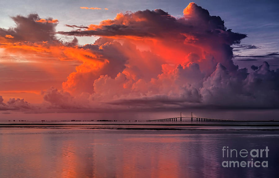 Weather Photograph - Tampa Bay Storm by Marvin Spates