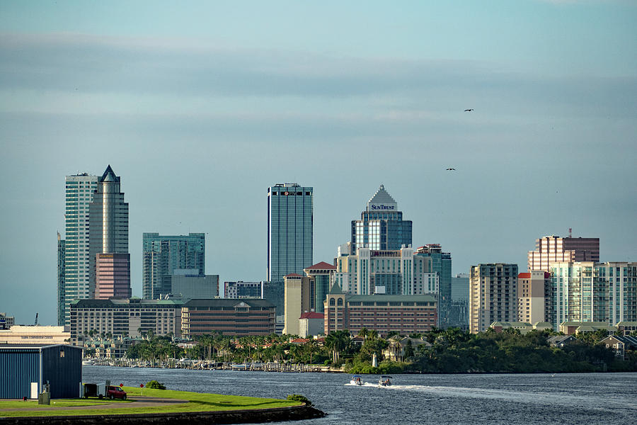 Tampa from the Channel Side by Margaret Zabor