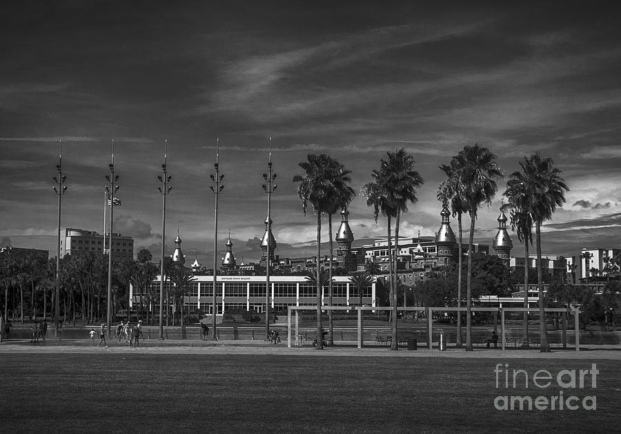 Tampa Riverwalk BW by Judy Hall-Folde