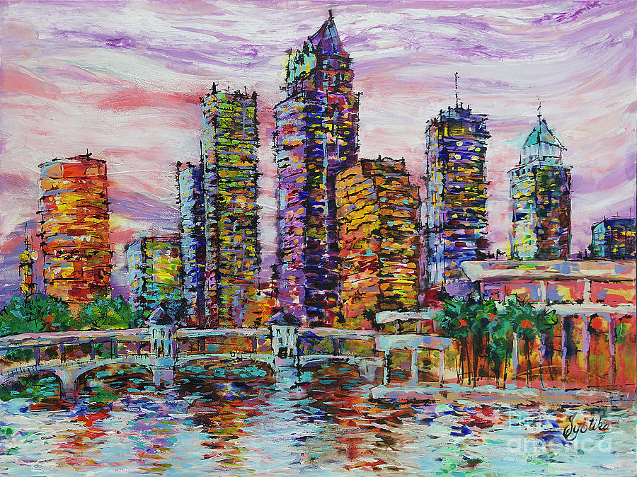 Tampa skyline at Sunset  by Jyotika Shroff