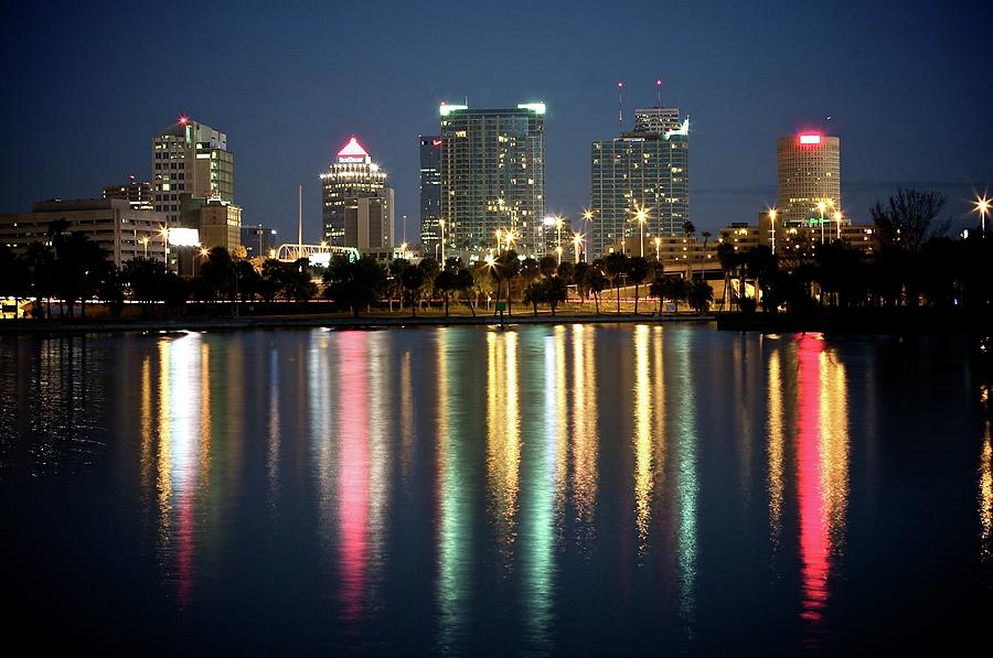 Tampa Skyline With Reflection Photograph by Thomas Damgaard Sabo, Damgaard Photography