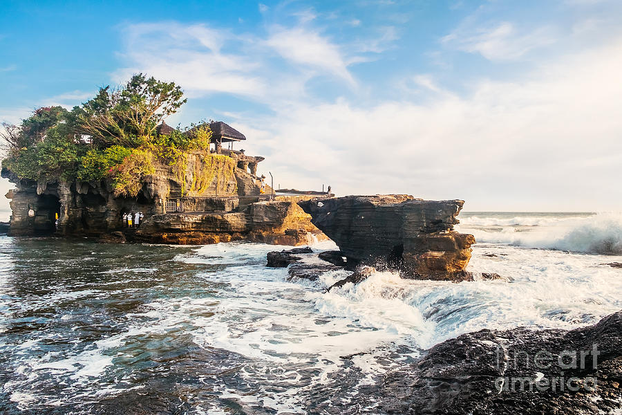 Historical Photograph - Tanah Lot Water Temple In Bali by Dmitry Polonskiy