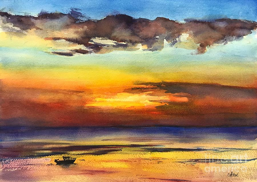 Tangalooma Sunset by Chris Hobel