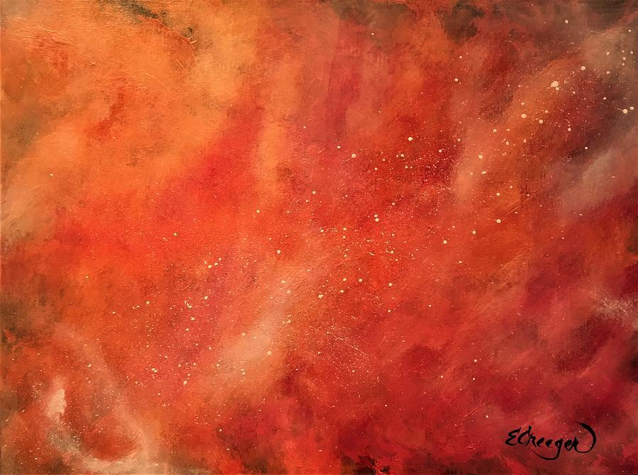 Tangerine Nebula Cloud by Esperanza Creeger