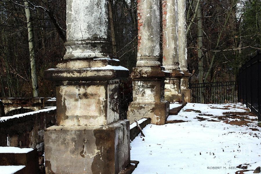 Tanglewood Snow Plinths Impression by Robert M Seel