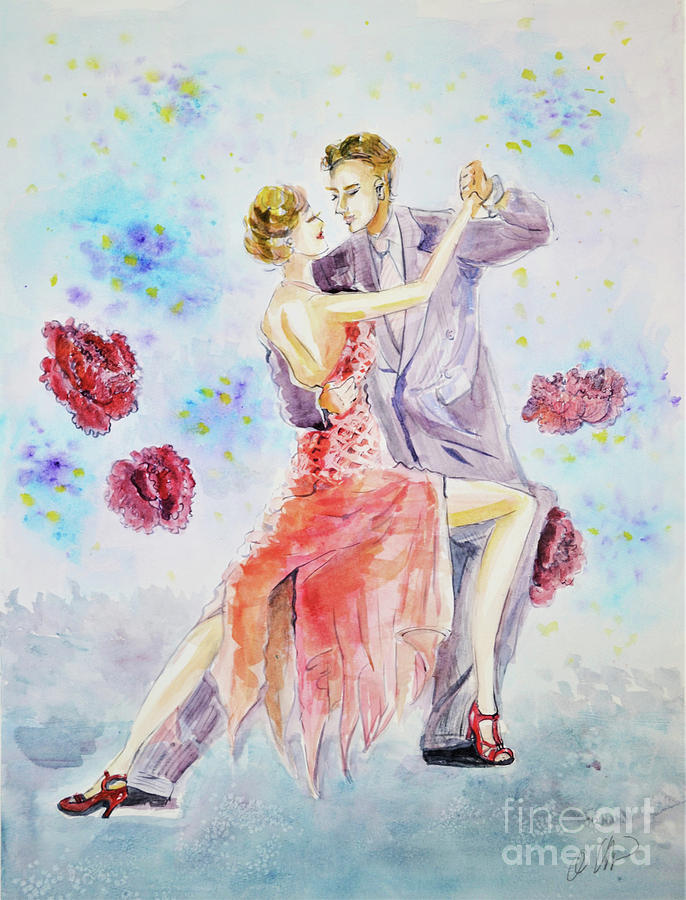 Tango Dancers by Leslie QQ Ouyang