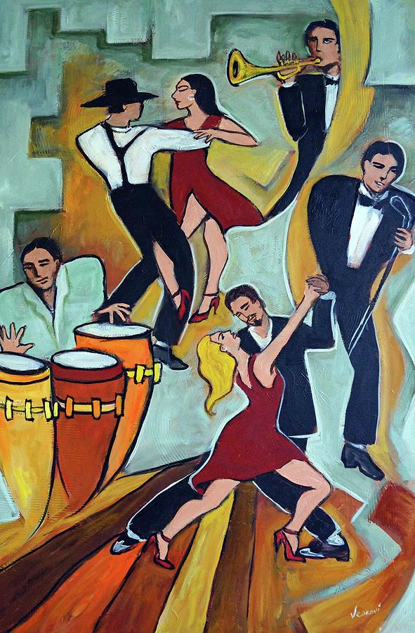 Tango Painting - Tango Terroso 1 by Valerie Vescovi