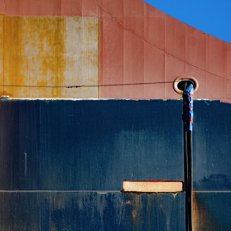 Ship Photograph - Tanker in Dry Dock by Carol Leigh