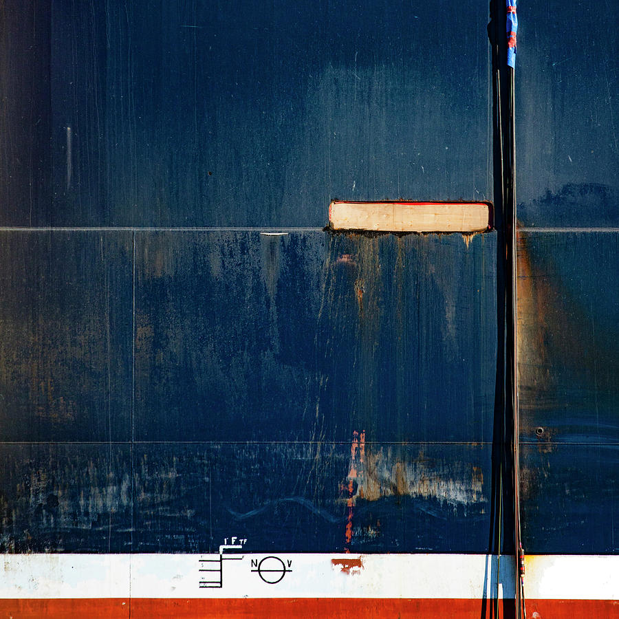 Ship Photograph - Tanker In Drydock Number 2 by Carol Leigh