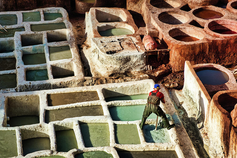 Tannery Worker #2 - Morocco by Stuart Litoff