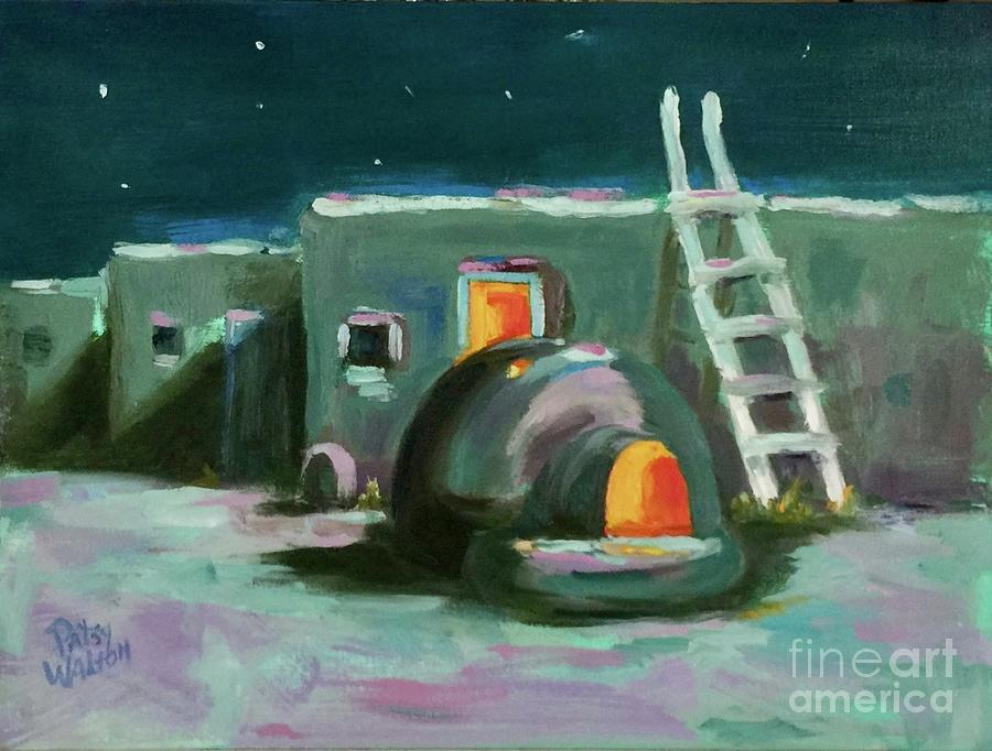 Starlight Painting - Taos At Night by Patsy Walton