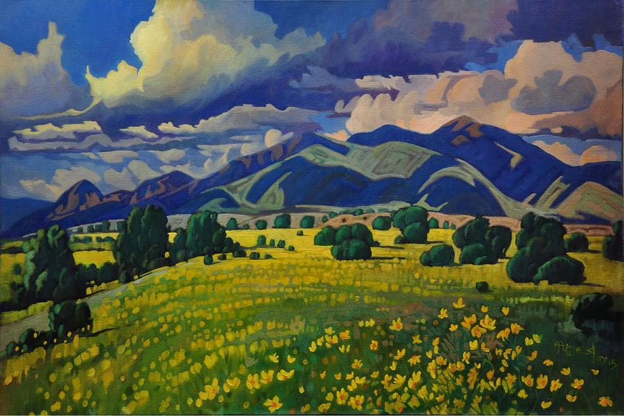 Taos Yellow Flowers by Art West