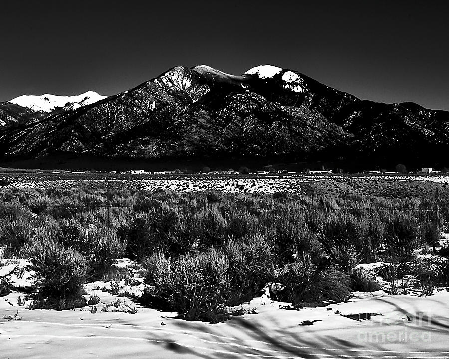 Taos mountain in the Zone by Charles Muhle