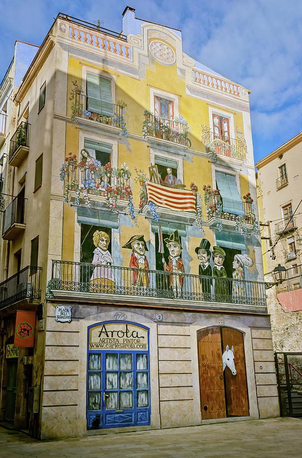 Tarragona Spain Mural by Joan Carroll