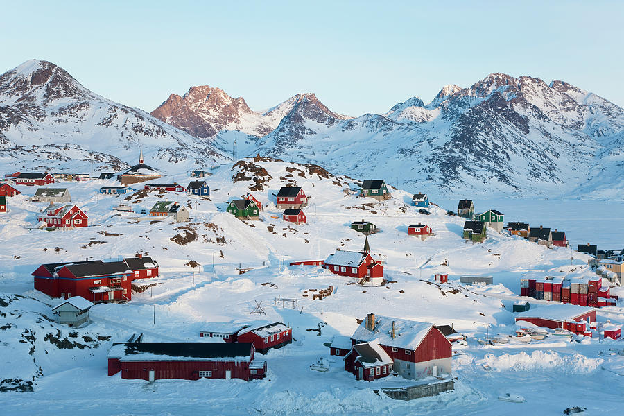 Tasiilaq, Greenland In Winter Photograph by Peter Adams