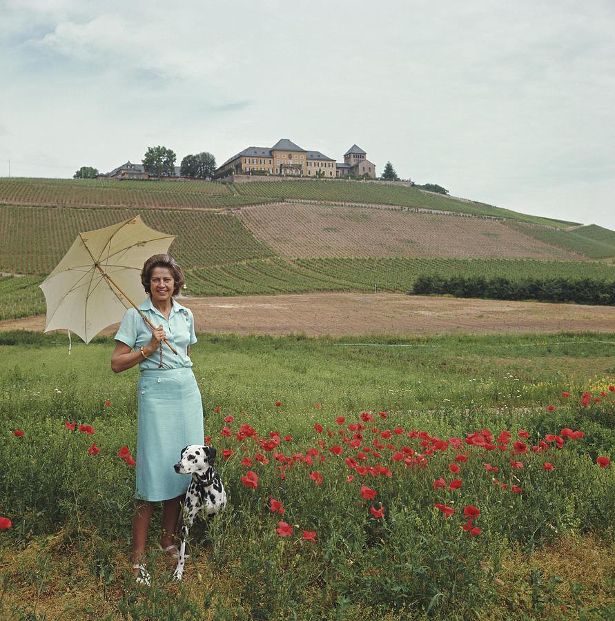 Tatiana On The Rhine Photograph by Slim Aarons