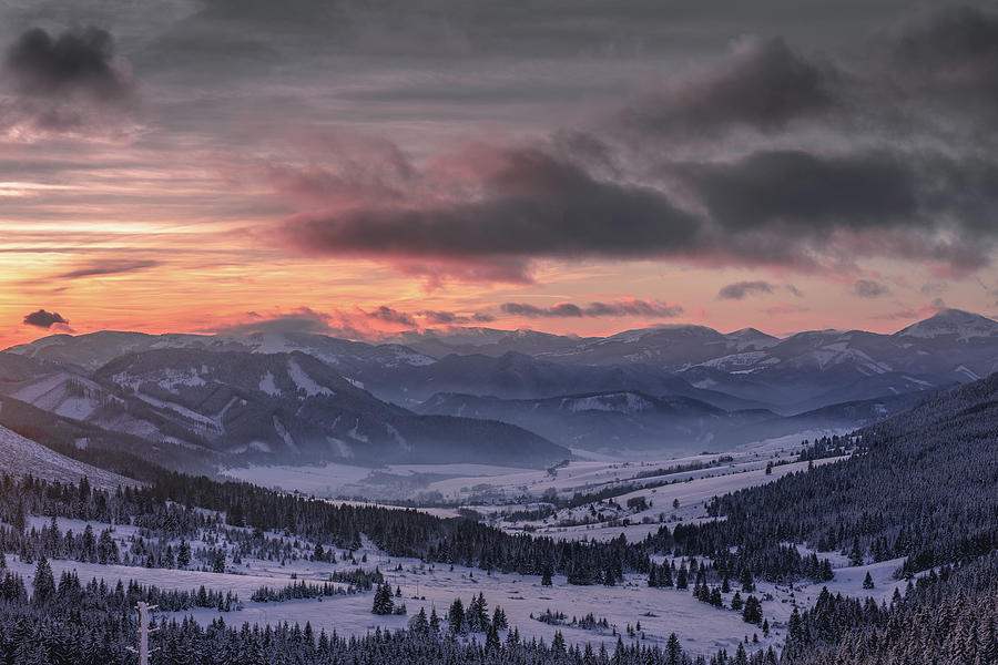 Tatra Mountains In Winter Snow Slovakia Photograph By Colin Goldsmith Hodder