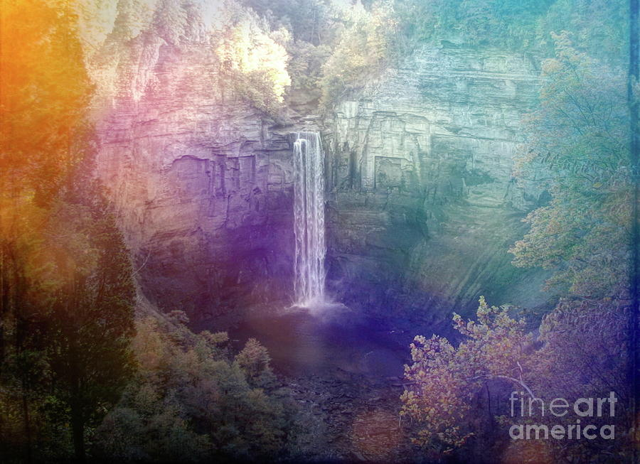 Taughannock Falls Dreamy Day Effect by Rose Santuci-Sofranko