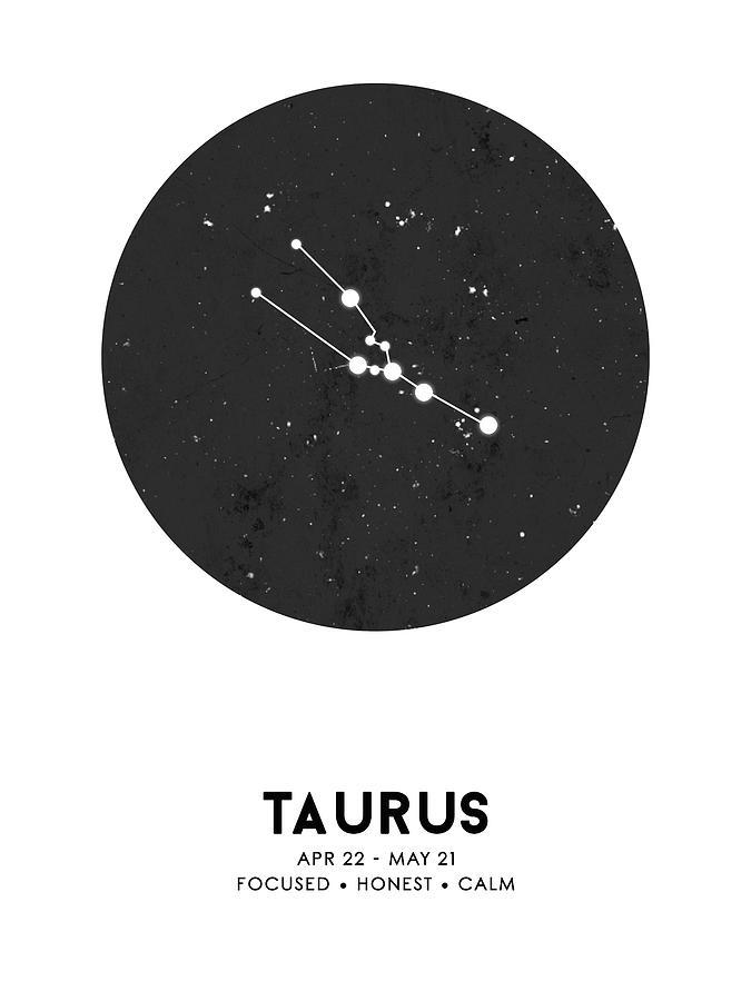 Gift For Taurus Wall Art Zodiac Artwork Astronomy Poster Constellation Astrology Poster Taurus Zodiac Art Print Taurus Zodiac Print