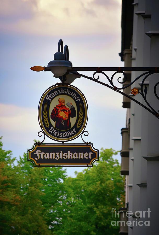 Tavern Beer Sign - Hamburg by Yvonne Johnstone